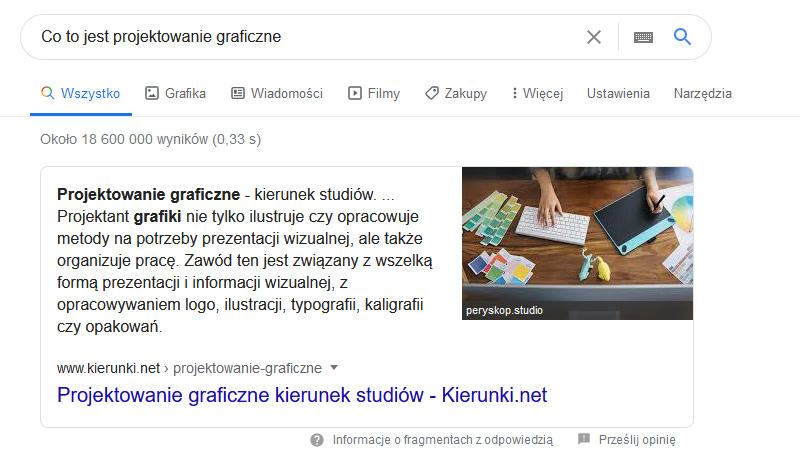 Jak wygląda pozycja zero w Google